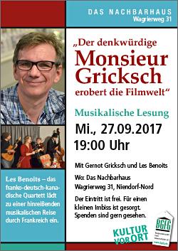 BGFG-Veranstaltung mit Gernot Grickschin Niendorf / Kultur vor Ort