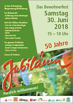 2018 / Jubiläum: 50 Jahre Wohnen bei der BGFG in Niendorf-Nord / Familienfest / Bewohnerfest