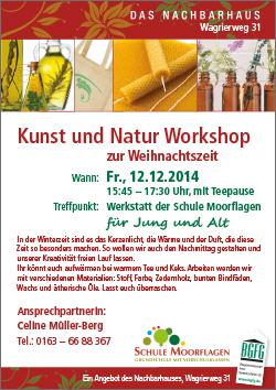 2014 Natur und Kunst Workshop im Nachbarhaus in Niendorf-Nord