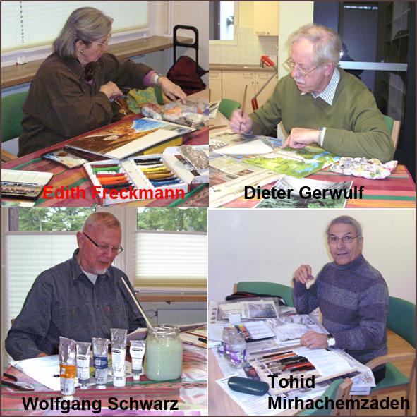 Malgruppe Niendorf-Nord / Die vier Maler