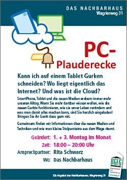 2016 PC-Plauderecke in Niendorf-Nord im Nachbarhaus