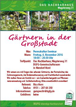 Gärtnern in der Großstadt / Permakultur-Seminar in Niendorf-Nord