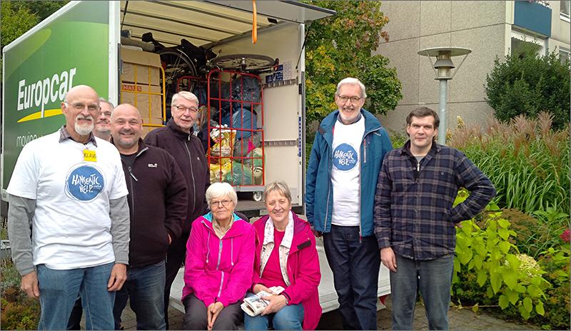 2017 Hanseatic Help Spendensammlung in Niendorf-Nord vorm NACHBARHAUS