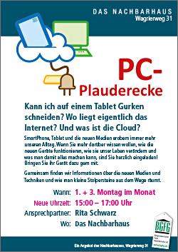 2018 PC-Plauderecke im Nachbarhaus in Niendorf-Nord