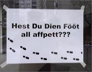 Hest DU Dien Fööt all affpett? / Niendorfer Nachbarn / Das Nachbarhaus / Niendorf Nord / Winterwetter